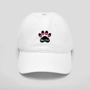 Personalizable Paw Print Baseball Cap