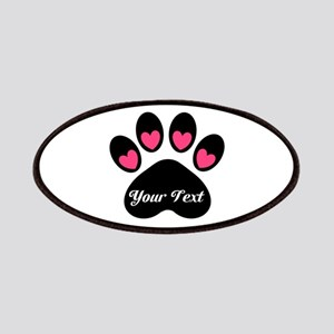 Personalizable Paw Print Patches