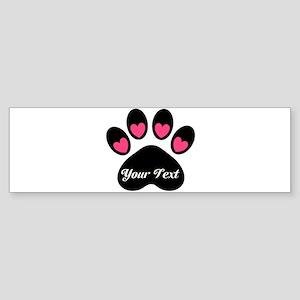 Personalizable Paw Print Bumper Sticker