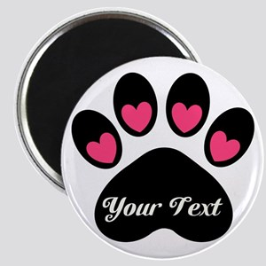Personalizable Paw Print Magnets