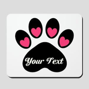 Personalizable Paw Print Mousepad