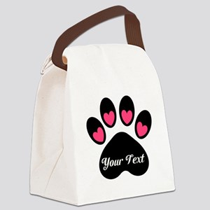 Personalizable Paw Print Canvas Lunch Bag