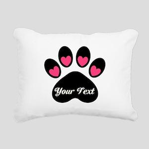 Personalizable Paw Print Rectangular Canvas Pillow