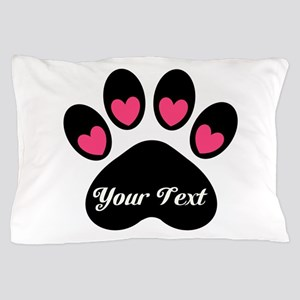 Personalizable Paw Print Pillow Case