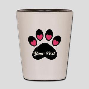 Personalizable Paw Print Shot Glass