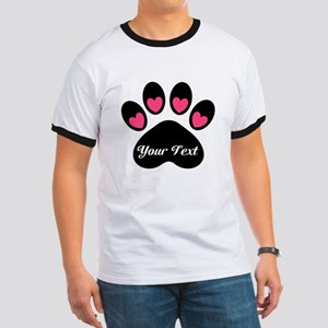 Personalizable Paw Print T-Shirt
