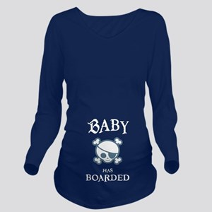 Baby-Pir-Boarded-Ltt Long Sleeve Maternity T-Shirt