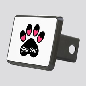 Personalizable Paw Print Pink Hitch Cover