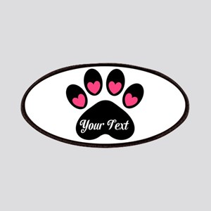 Personalizable Paw Print Pink Patches