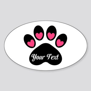 Personalizable Paw Print Pink Sticker