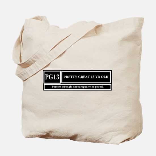 13 Year old Tote Bag