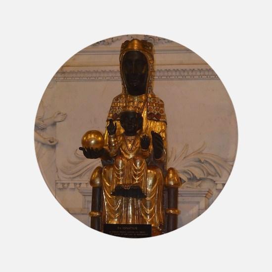 """Lady of Montserrat 3.5"""" Button"""