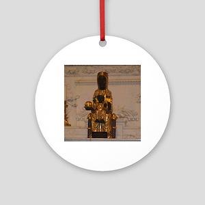 Lady of Montserrat Round Ornament
