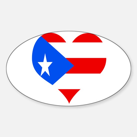 Love 4 Puerto Rico Oval Decal
