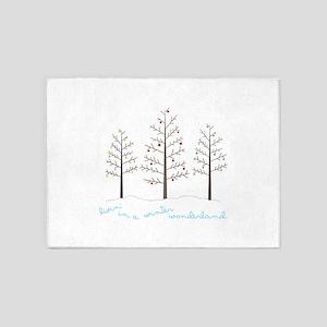 Winter Wonderland Tree 5'x7'Area Rug