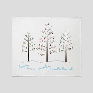 Winter Wonderland Tree Throw Blanket
