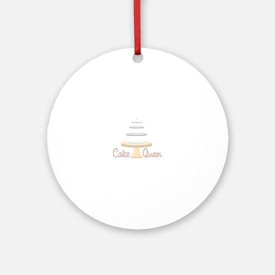 Cake Queen Ornament (Round)