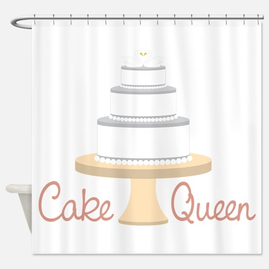 Cake Queen Shower Curtain