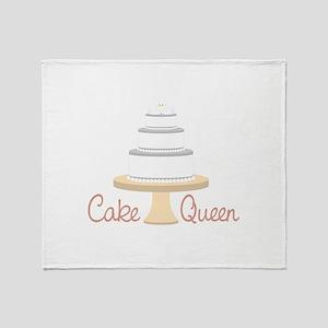 Cake Queen Throw Blanket