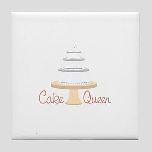 Cake Queen Tile Coaster