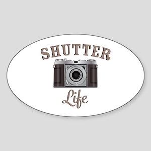 Shutter Life Retro Camera Sticker