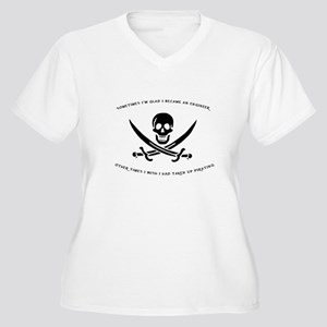 Engineering Pirate Women's Plus Size V-Neck T-Shir