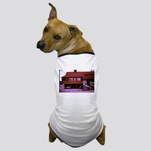 old picture of house with open garage Dog T-Shirt