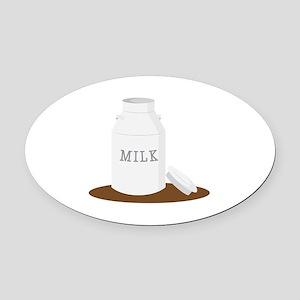 Farm Milk Oval Car Magnet