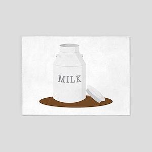 Farm Milk 5'x7'Area Rug