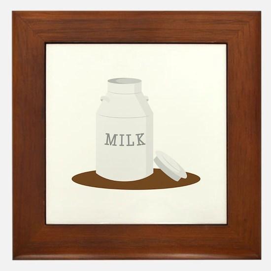 Farm Milk Framed Tile