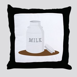 Farm Milk Throw Pillow
