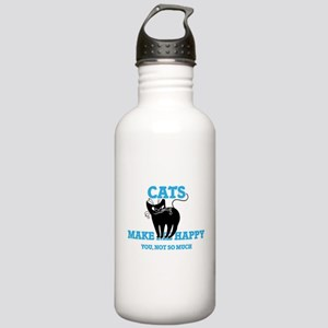 Cats Make Me Happy Stainless Water Bottle 1.0L
