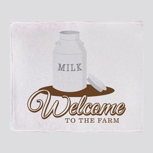 Welcome to the Farm Throw Blanket