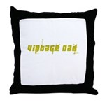 Vintage Dad - Crackled Throw Pillow