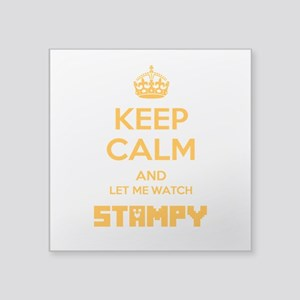"""Let Me Watch Stampy Square Sticker 3"""" X 3&quo"""