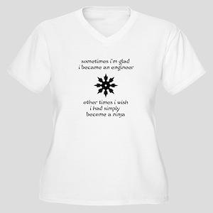Ninja Engineer Women's Plus Size V-Neck T-Shirt