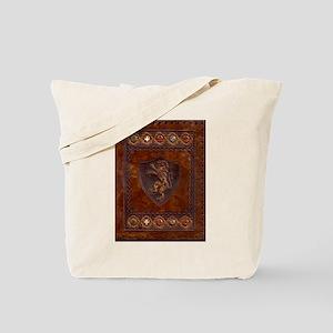 Lthr Book Cover Lg Tote Bag