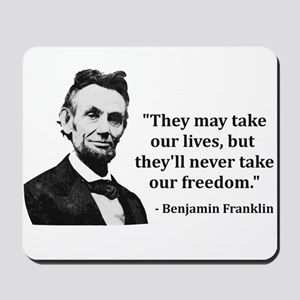 Abraham Lincoln Troll Quote Mousepad