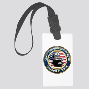CVN-77 USS George H.W. Bush Large Luggage Tag