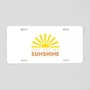 My Sunshine Aluminum License Plate