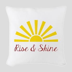 Rise & Shine Woven Throw Pillow