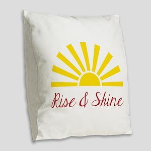 Rise & Shine Burlap Throw Pillow