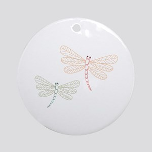 Dragonfly Bugs Ornament (Round)