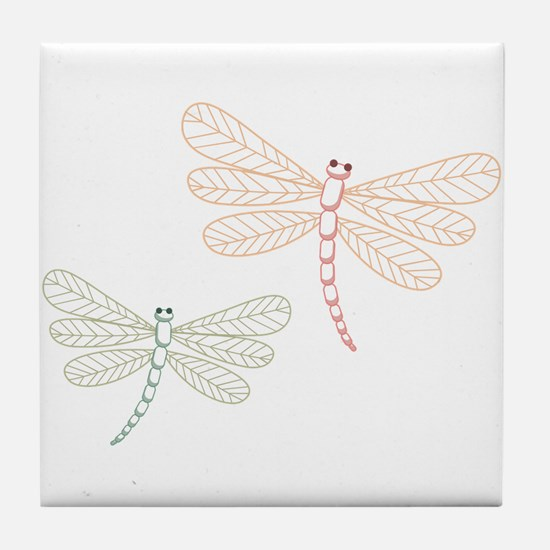 Dragonfly Bugs Tile Coaster