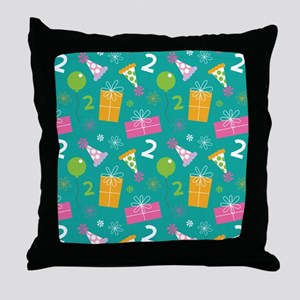 2nd Birthday Party Gift Throw Pillow