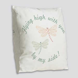 Flying High Burlap Throw Pillow