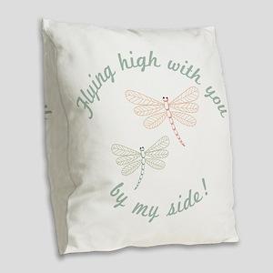 Flying High Burlap Throw Pillow