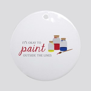 Paint Outside Lines Ornament (Round)