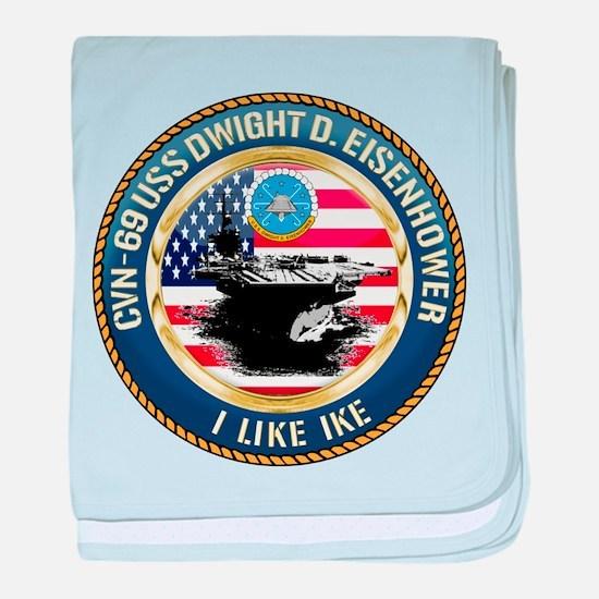 CVN-69 USS Eisenhower baby blanket