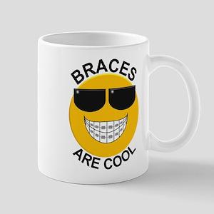 Braces Are Cool Smiley / Sunglasses Mug Mugs
